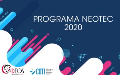 NUEVA CONVOCATORIA NEOTEC 2020, SUBVENCIÓN DE HASTA 250.000 EUROS